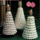 "Z051 Crochet PATTERN ONLY Christmas Tree Ornament 4"" Tall Pattern"