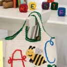 Z056 Crochet PATTERN ONLY A-Bee-C Tote Bag Pattern
