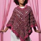 Z059 Crochet PATTERN ONLY Free Spirit Poncho Pattern