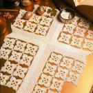 Z074 Crochet PATTERN ONLY Contemplation Cross Table Doily Pattern