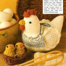 Z076 Crochet PATTERN ONLY Potpourri Chicken Hen and Baby Chicks Pattern