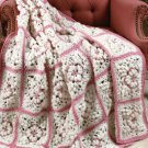 Z080 Crochet PATTERN ONLY Snow Flowers Granny Afghan Pattern