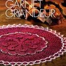 Z081 Crochet PATTERN ONLY Garnet Grandeur Doily Pattern Elegant Fancy