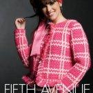 Z089 Crochet PATTERN ONLY Fifth Avenue Fringed Plaid Jacket Pattern