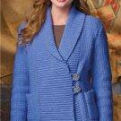 Z281 Crochet PATTERN ONLY Wide Shawl Collar Weekend Cardigan Pattern