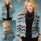 Z282 Crochet PATTERN ONLY Mission Style Chevron Design Maroma Jacket Pattern