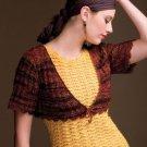 Z287 Crochet PATTERN ONLY Cascading Shells Tank Top and Little Bolero Pattern