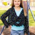 Z288 Crochet PATTERN ONLY Girls Cropped Jacket & Breezy Capelet Pattern