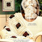 Z301 Crochet PATTERN ONLY Cabbage Rose Lacy Granny Afghan Throw Pattern