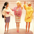 Z303 Knit PATTERN ONLY Fashion Doll Flair Wardrobe Pattern Sweater Dress Skirt