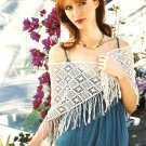 Z308 Filet Crochet PATTERN ONLY Featherwieght Wrap Shawl Modified Filet Pattern
