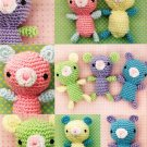 Z309 Crochet PATTERN ONLY Tiny Teddies Toy Doll Amigurumi Patterns Teddy