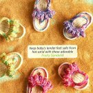 Z320 Crochet PATTERN ONLY Adorable Fruity Baby Sandals Pattern