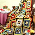 Z322 Crochet PATTERN ONLY Starburst Magic Granny Square Afghan Throw Pattern