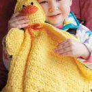 Z328 Crochet PATTERN ONLY Duck Travel Buddy Blankie Pattern