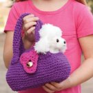 Z332 Crochet PATTERN ONLY Child's Favorite Furry Friend Travel Bag Pattern