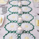 Z336 Crochet PATTERN ONLY Daisies in Bloom Table / Dresser Scarf / Runner Pattern