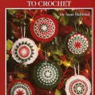 Z338 Crochet PATTERN Book ONLY Scented Ornaments Christmas Sachets