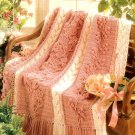 Z340 Crochet PATTERN ONLY Feminine Floral Cascade Afghan Throw Pattern
