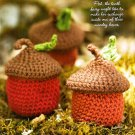 Z342 Crochet PATTERN ONLY Woodsy Acorn Little Basket with Lid Pattern