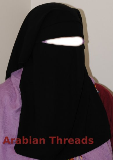 Saudi niqab with 2 eyeveils