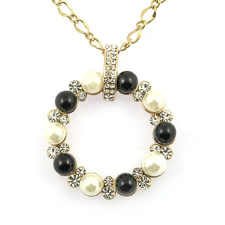 Golden Two tone  pearl pendant