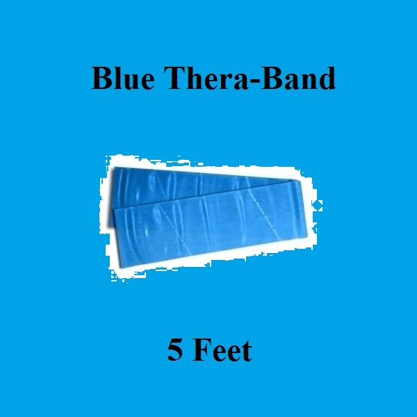 1 Blue Thera-Band, Theraband Resistance Exercise Band Individual Pack