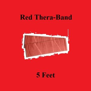 1 Red Thera-Band, Theraband Resistance Exercise Band Individual Pack