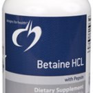 Betaine HCL (with Pepsin) - 120 Capsules - Designs for Health