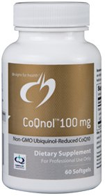 CoQnol (non-GMO Ubiquinol - Reduced CoQ10 Form) 100mg - 60 Softgels - Designs for Health