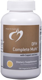 DFH Complete Multi with Copper & Iron - 180 Vegetarian Capsules - Designs for Health