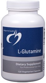 L-Glutamine 850mg - 120 Vegetarian Capsules - Designs for Health