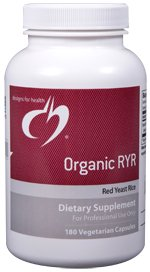 Organic RYR (Red Yeast Rice) - 180 Vegetarian Capsules - Designs for Health