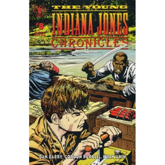 Young Indiana Jones Chronicles #8 (Comic Book) - Dark Horse Comics - by Dan Barry