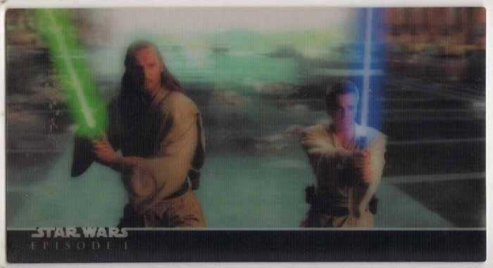 Star Wars Episode I 3D Widevision Promo P1 (Topps) Trading Card