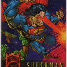 DC Outburst: Firepower Promo Trading Card featuring Superman (SkyBox)