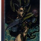 "Wizard Series III #9 ""Cybernary"" Etched Foil Trading Card (Wizard) - Jim Lee, Brandon Choi"