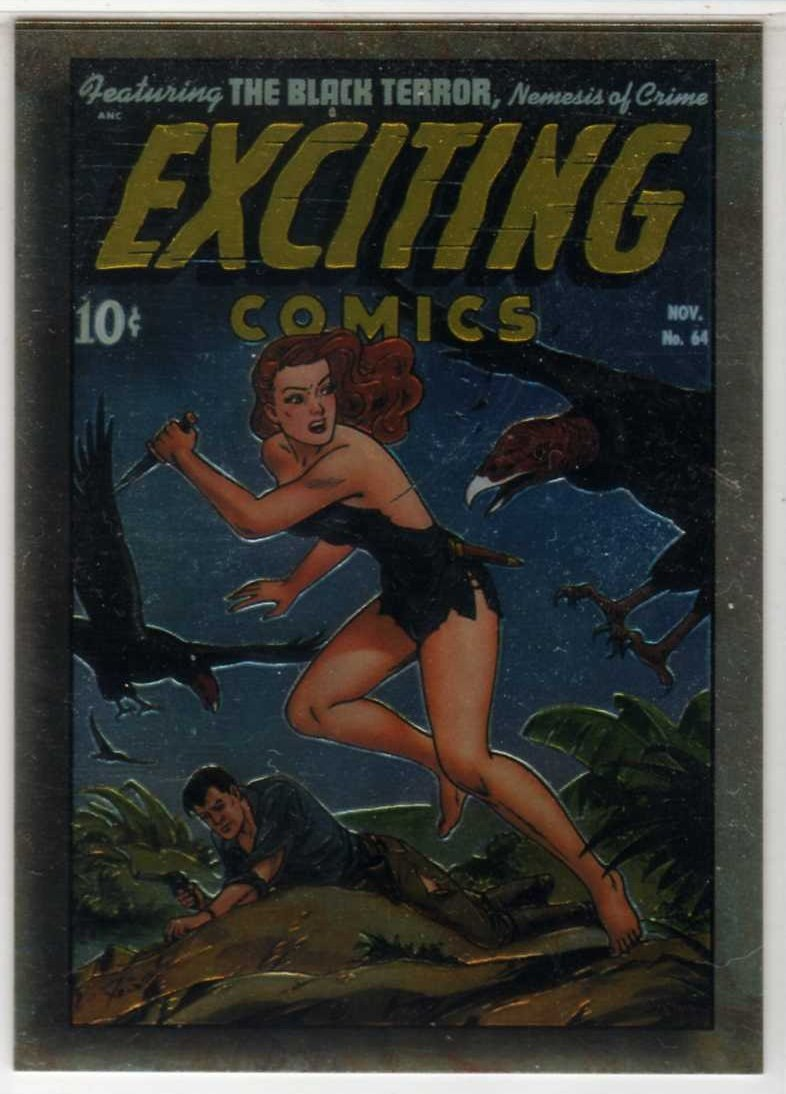 Golden Age of Comics Chromium Promo Card F2 (Comic Images) feat Exciting #64 (Judy of the Jungle)