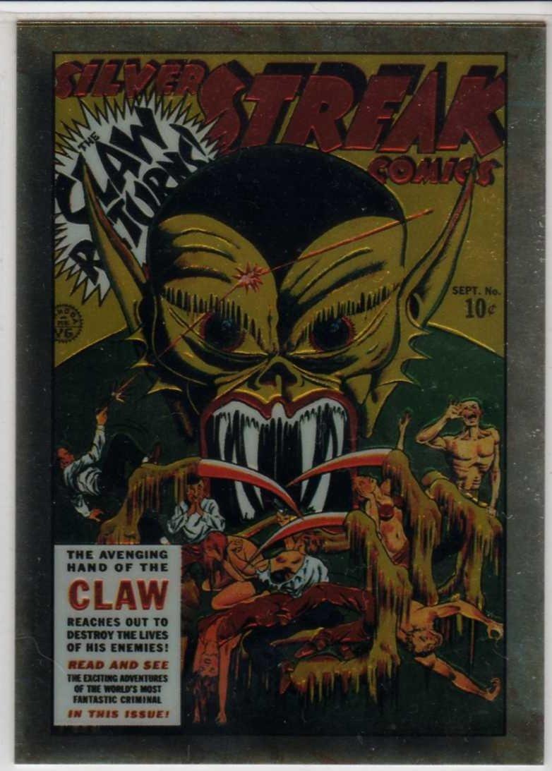 Golden Age of Comics Chromium Promo Card F3 (Comic Images) featuring Silver Streak #6