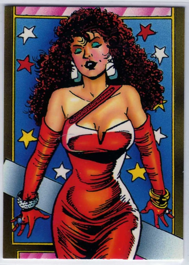 Sachs & Violens Promo Card (Comic Images) art by George Perez