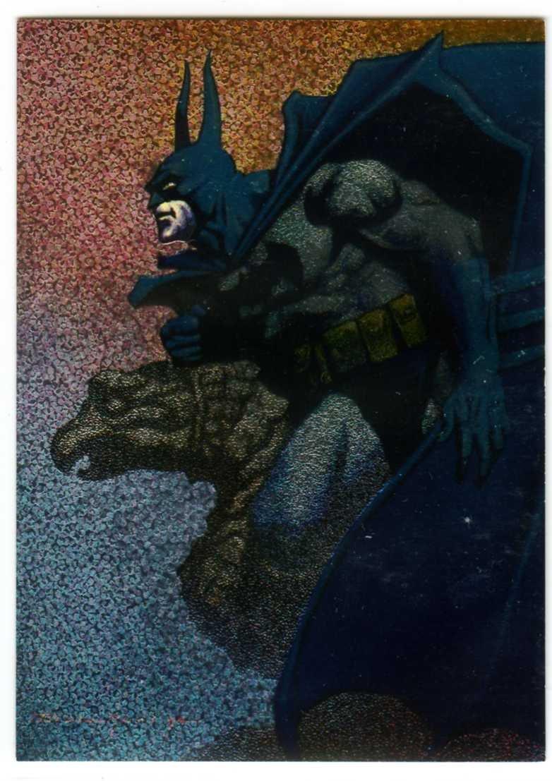 Batman Saga of the Dark Knight: Spectra-Etch Card B4 (SkyBox) by John Bolton; Portraits of Batman