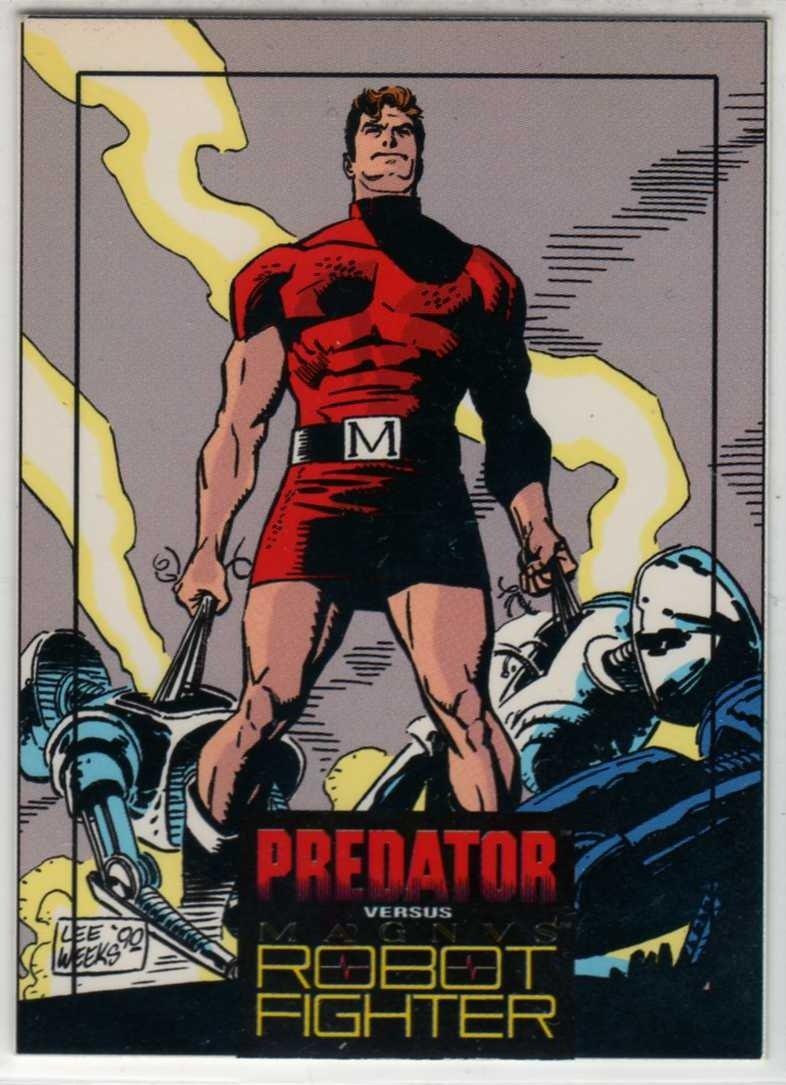 Predator Versus Magnus Robot Fighter #2 Trading Card (Wizard) art by Lee Weeks