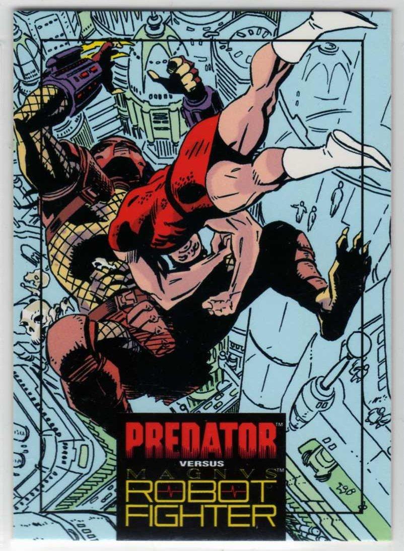 Predator Versus Magnus Robot Fighter #4 Trading Card (Wizard) art by Lee Weeks