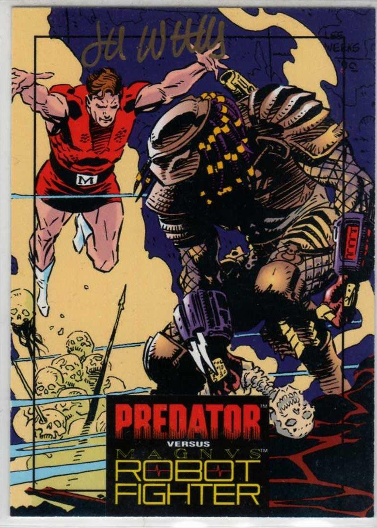 Predator Versus Magnus Robot Fighter #3 Autographed Trading Card (Wizard) art by Lee Weeks