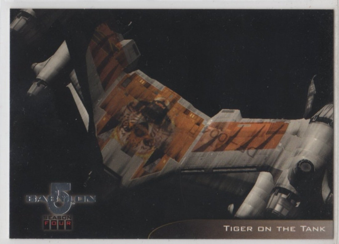 Babylon 5 Season 4 Chase Card V3 (SkyBox) - Starfury Nose Art