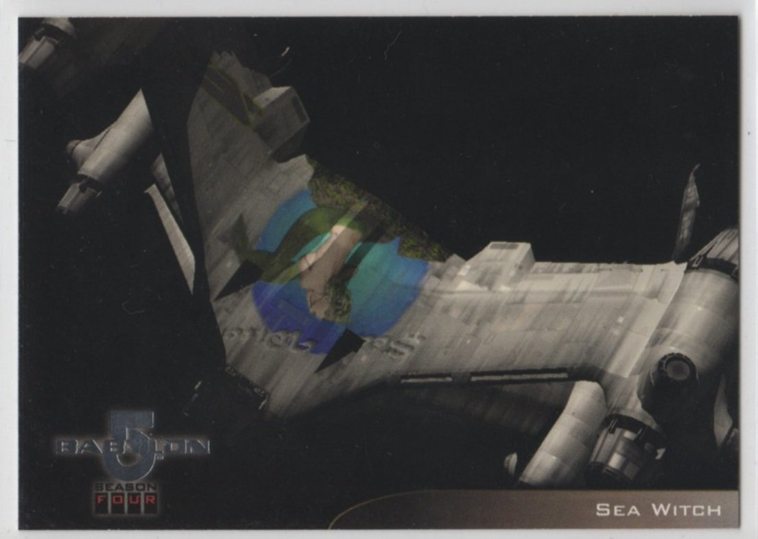 Babylon 5 Season 4 Chase Card V9 (SkyBox) - Starfury Nose Art