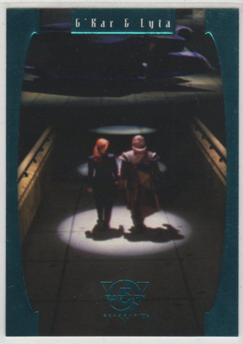 Babylon 5 Season 5 Chase Card E3 (SkyBox) - One Exit At A Time - G'Kar & Lyta