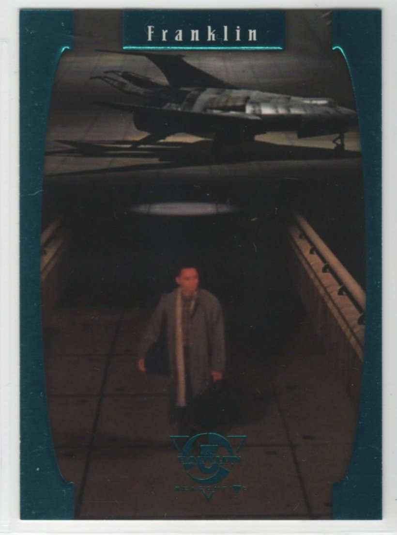 Babylon 5 Season 5 Chase Card E5 (SkyBox) - One Exit At A Time - Franklin