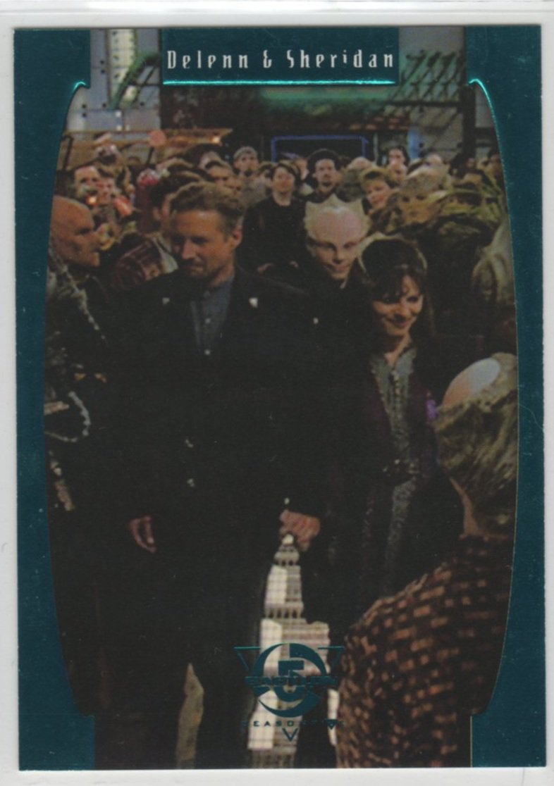 Babylon 5 Season 5 Chase Card E6 (SkyBox) - One Exit At A Time - Delenn & Sheridan