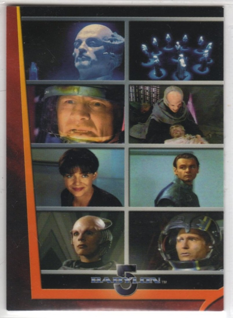 "Complete Babylon 5 Movies Chase Card M1 (Rittenhouse Archives) - Movie Triptych ""In The Beginning"""